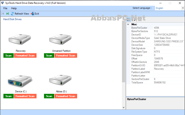 SysTools Hard Drive Data Recovery Free Download for Windows