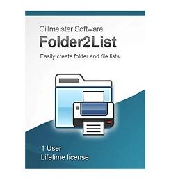 Gillmeister Folder2List Crack Free Download