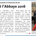2016 Article de presse ouverture des festivités