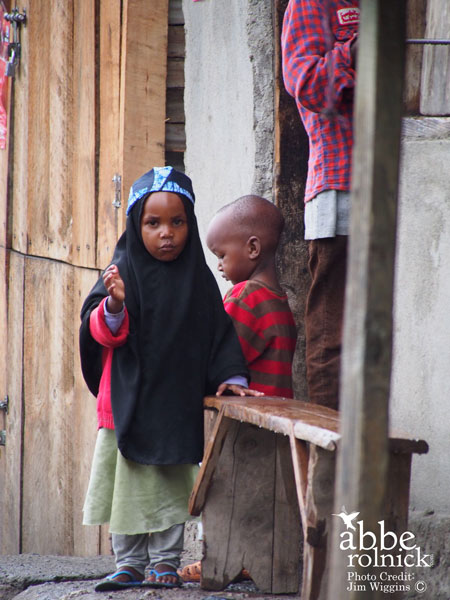 two kids in Africa