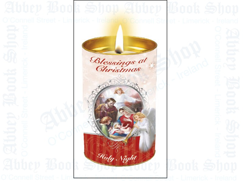 Christmas Candle – Blessings Holy Night (Red)