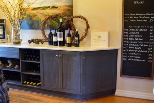 wine tasting at Woodward Canyon