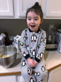 Getting help from the cookie monster herself!