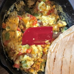 breakfast burritos campsite food 1