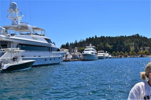 Roche Harbor Mega Yachts