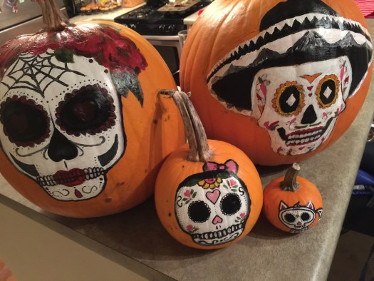 Halloween sugarskull pumpkin 9