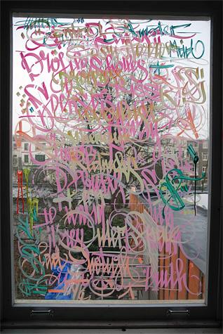 Letman's studio window from the artists's webpage http://www.letman.com