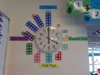 Numicon represent the numbers on the clock