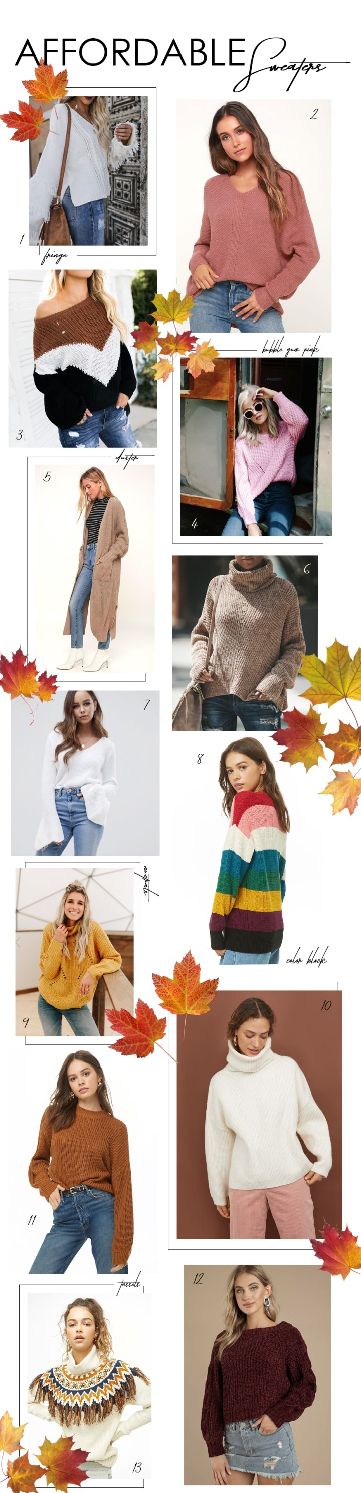 dc1fa021ff8c AFFORDABLE FALL SWEATERS – ABBIE KAY