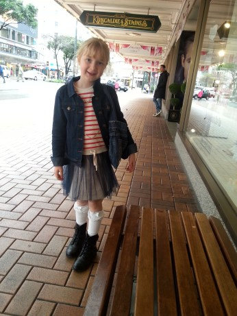 Shopping on the main street in Wellington - how cute is she?!