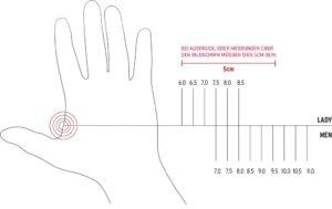 misura guanti invernali