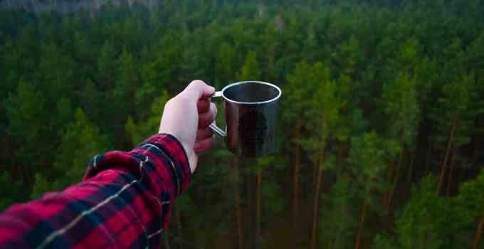 tazza di caffè cibo liofilizzato trekking