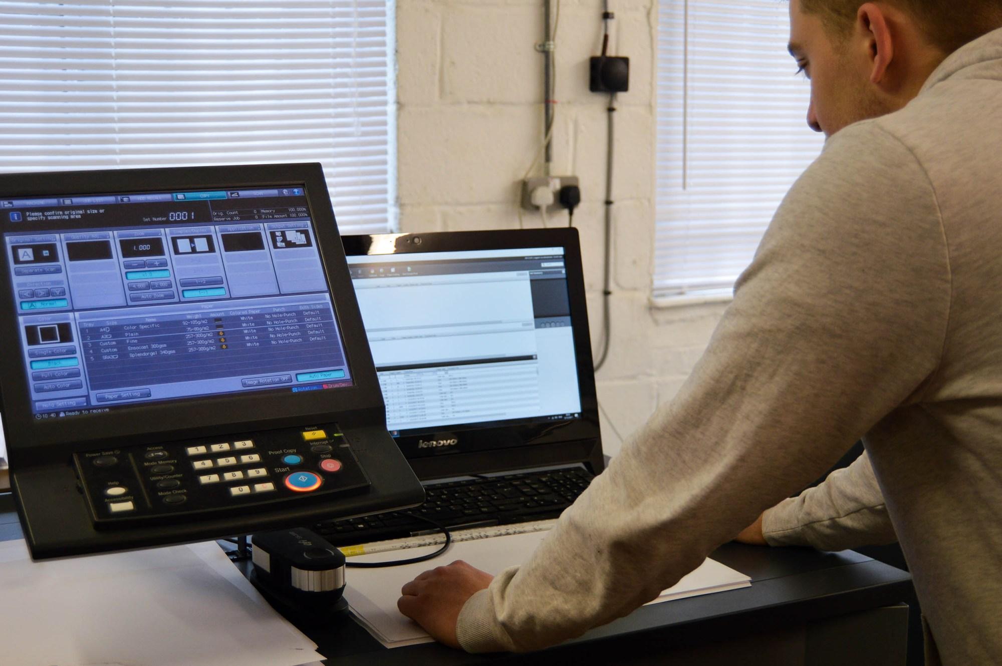 Alex using Digital print machine