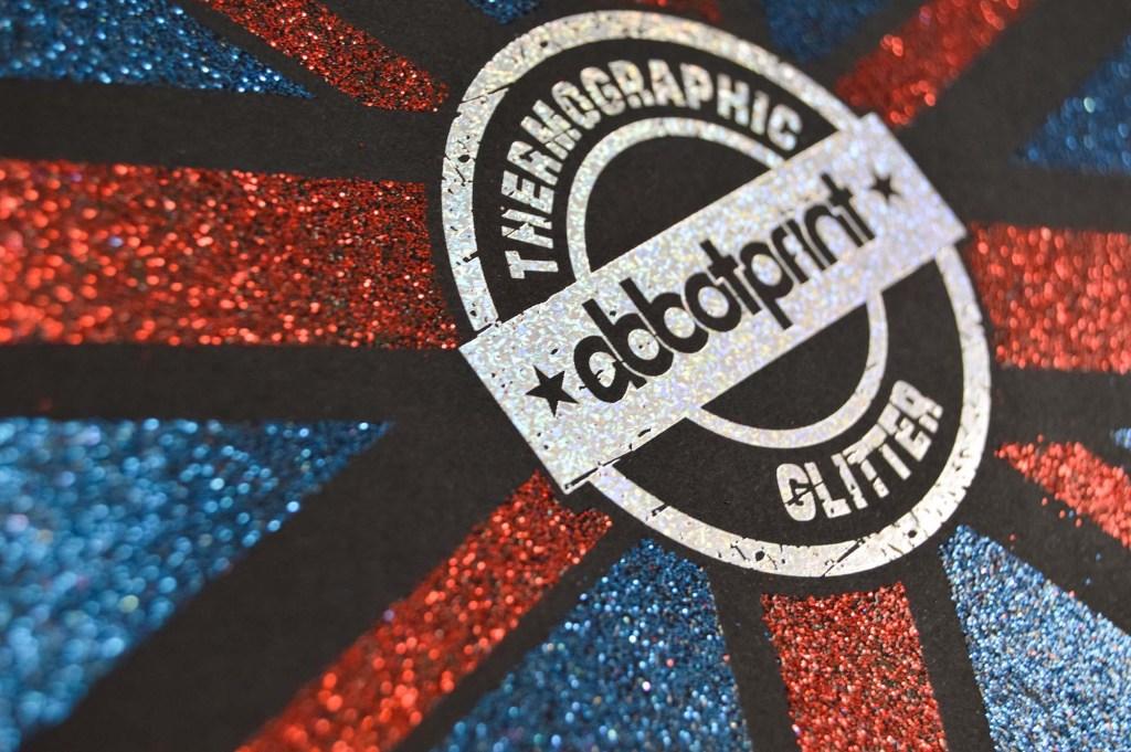 Abbot Print Identity Logo in Glitter