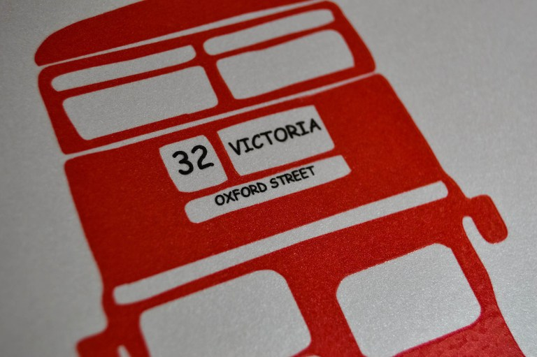 London Bus Red thermography