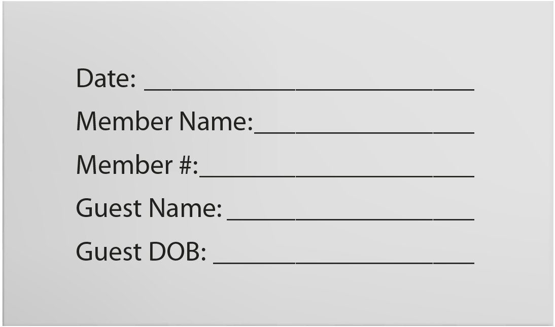 Fill Out Guest Pass Envelope