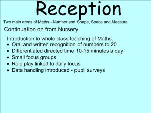 Abbots Langley School Maths Sessions for Parents - Nursery, Reception and KS1_3