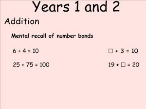 Abbots Langley School Maths Sessions for Parents - Nursery, Reception and KS1_4