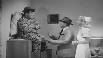 """Peace and Quiet - The Abbott and Costello Show - Lou's fighting insomnia, and despite Bud's """"help"""", nothing seems to work …"""