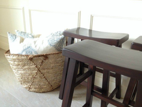 Makeover on our counter stools with Java gel stain