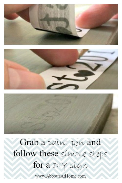 How to use Paint Pens (markers) to make easy painted quote signs.