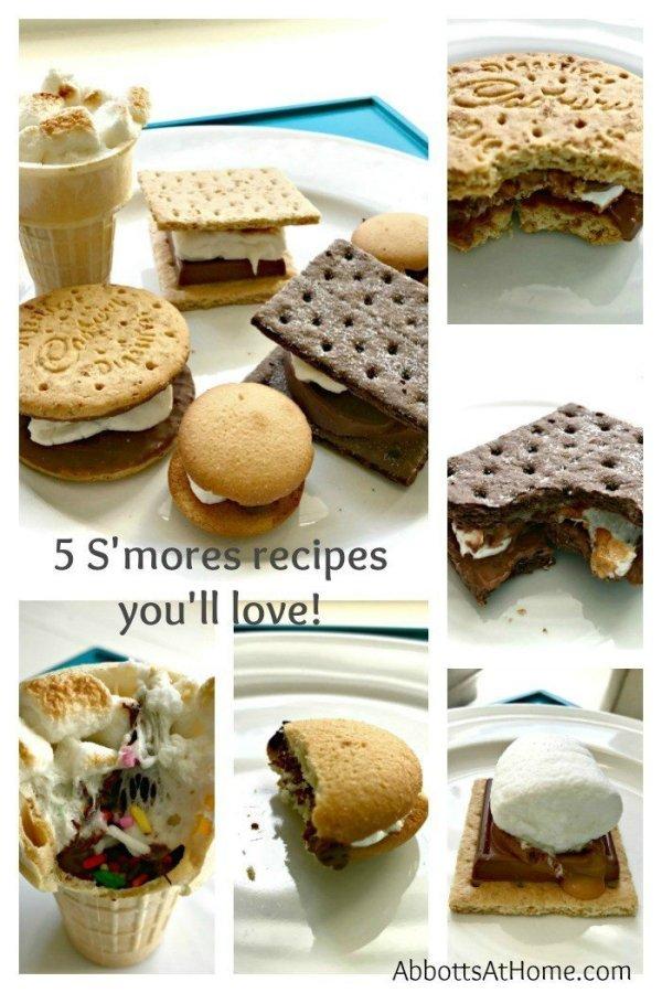 5 S'mores recipes you'll love! Ghiradelli chocolate, Terry's chocolate orange, Cadbury's cookies...yummy!
