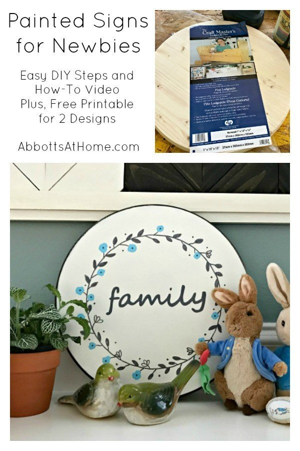DIY Steps & Video for Easy Painted Sign for Beginners. Uses Paint Markers for and easy design. 2 Free Printable Designs available. #PaintMarker #PaintPen #PaintedSign #EasyCrafts