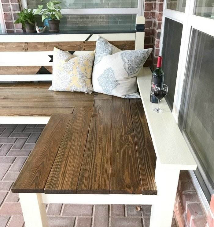 L Shaped DIY Backyard Bench, Just $130