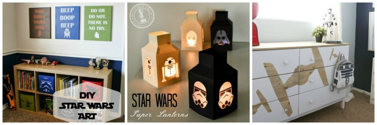 Cool Star Wars Gifts to Make or Buy. From easy Star Wars Chocolates and Paper Lanterns to Star Wars Furniture and Clothes, these are cool Star Wars gifts for fans of all ages.