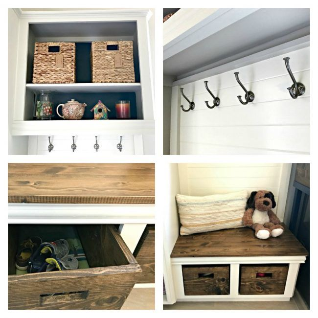 Try this $100 DIY Laundry and Mudroom Combo