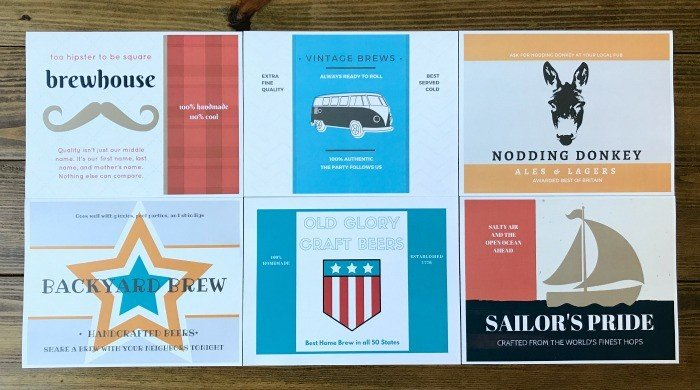 Home Brewing Printable Wall Art & Beer Labels