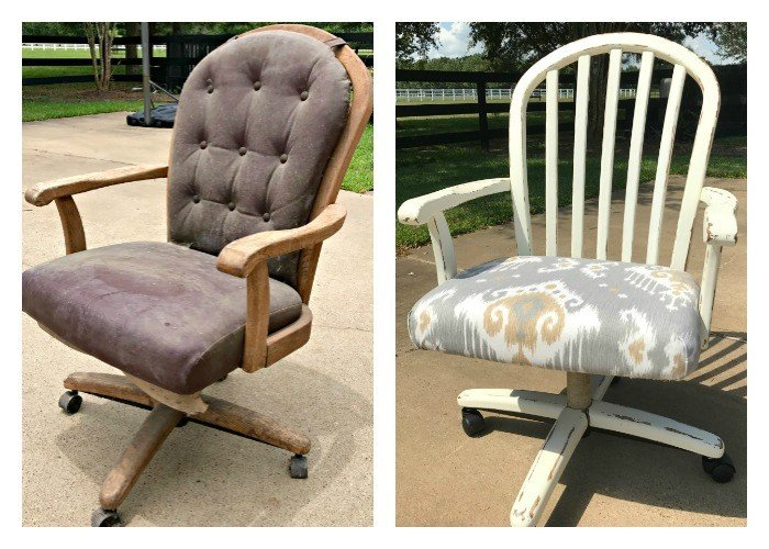 Beautiful office chair makeover and fixing roller wheels!