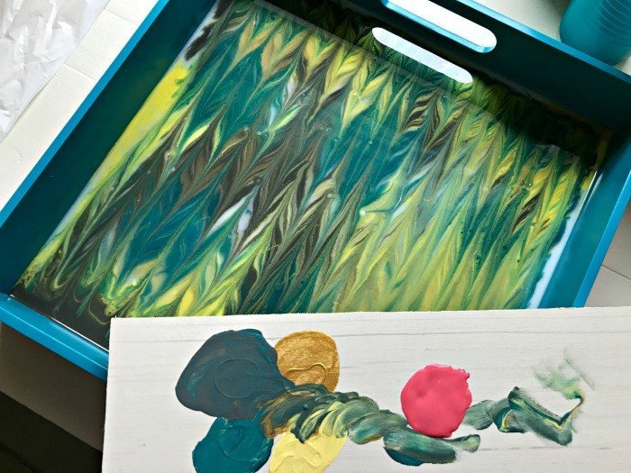 How-To Video and DIY instructions. See how I updated a boring tray with acrylic paints and envirotex lite resin. It's easier than it sounds.