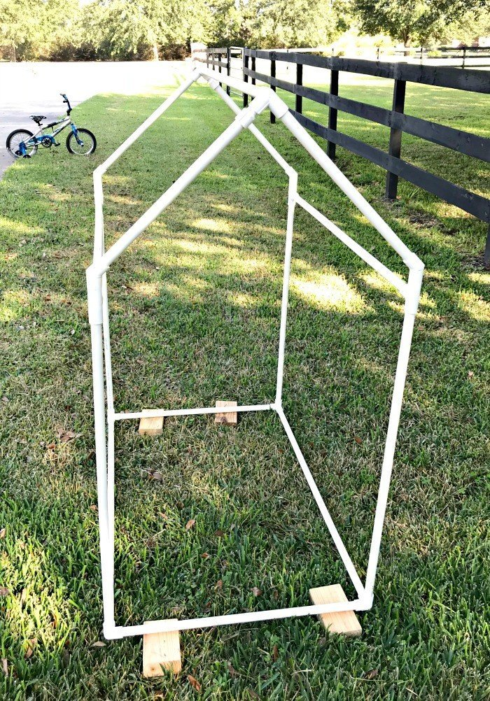 Plans to Build this easy Kids PVC Pipe Tent with drop cloth cover. PVC pipe & Build this Fun and Easy Kids PVC Pipe Tent! - Abbotts At Home