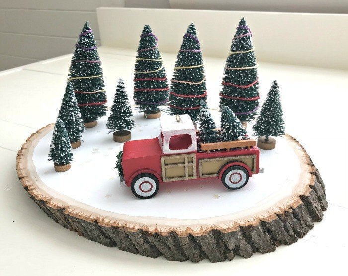 Quick & Easy Red Truck DIY Christmas Centerpiece Idea