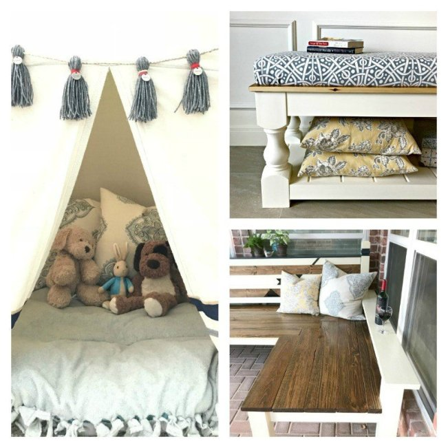 Check out Abbotts At Home's Top DIY Projects in 2017, our biggest posts on Facebook and Instagram and preview my DIY, remodeling, and crafting plans for 2018. The top DIY's include a DIY Backyard Bench, Chunky Leg Farmhouse Bench Plans, a PVC Kids Tent with dropcloth cover, and more!