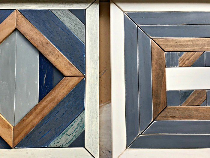 Build your own customDIY Scrap Wood Geometric Art. Works for Barn Quilt, Tribal Art, Boho, Mosaic, geometric wood designs and more. Includes DIY Tutorial steps and how-to video!