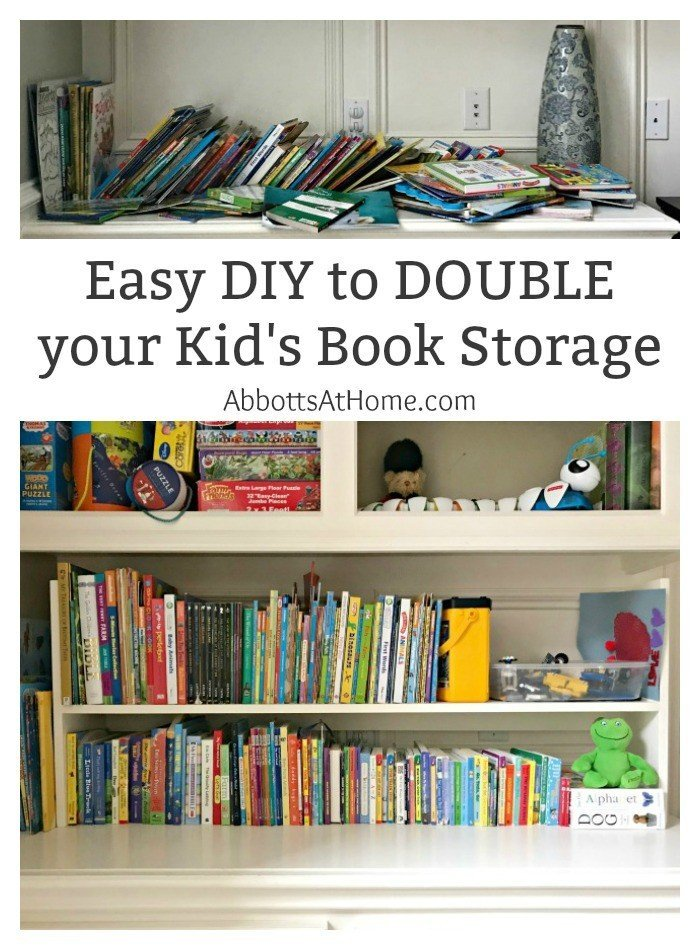 Plywood DIY Kids Book Storage Ideas. Works with Lumber u0026 MDF too. This is  sc 1 st  Abbotts At Home & My 1-Day DIY Kids Book Storage Idea - Abbotts At Home