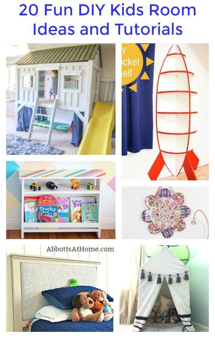 20 Fun DIY Kids Room Ideas And Tutorials. Kids Bedroom And Play Room DIYu0027s  And
