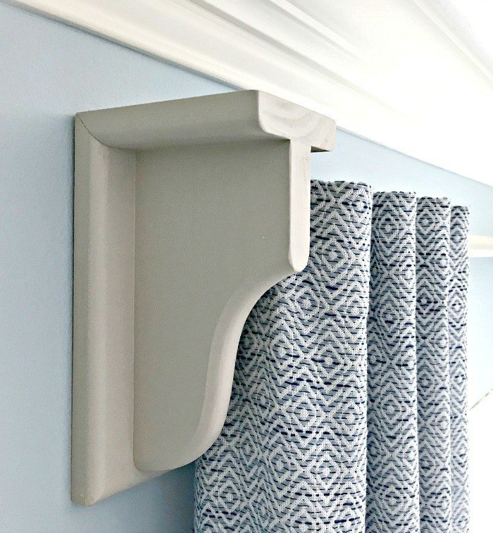 Quick & Easy DIY Wooden Curtain Rod and Brackets