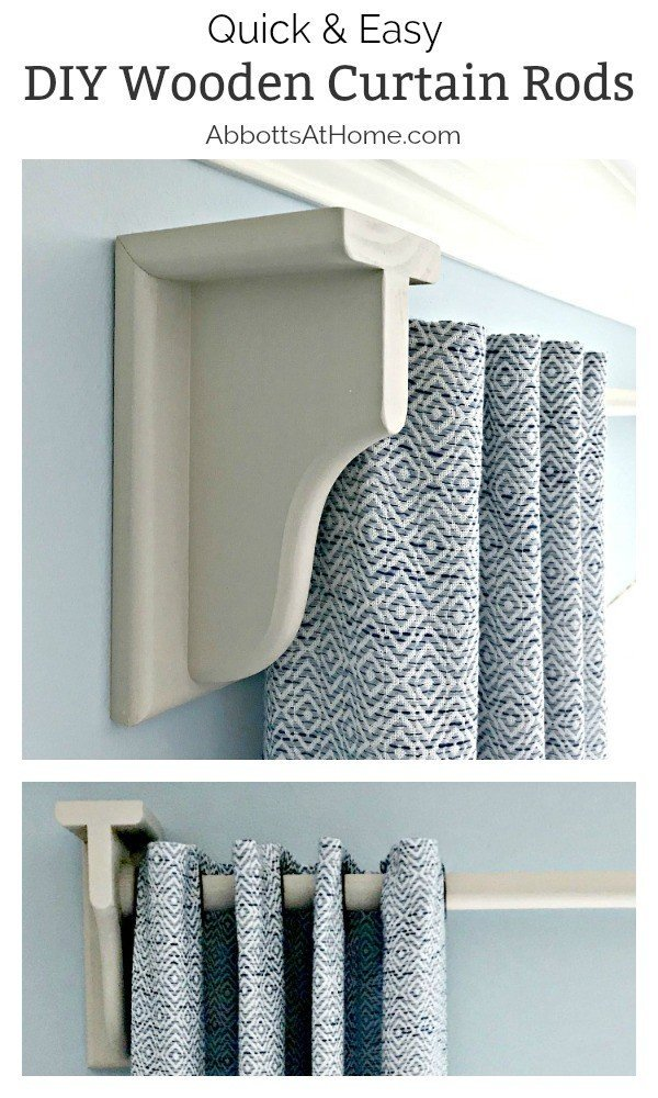 Quick & Easy DIY Wooden Curtain Rod. Get custom curtain rods and hardware to match almost any style and color, in just a few hours. Follow these steps for how to build a custom curtain rod and brackets.