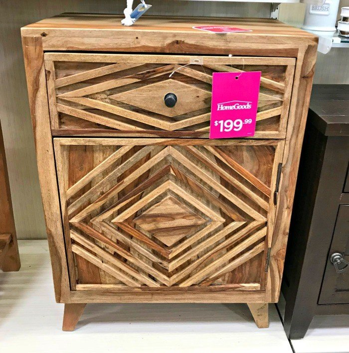Triangle 3D Wood Cabinet. This months furniture design ideas and inspiration are partly my own DIY builds and partly great pieces I found at Home Goods and Kirklands. I took these pictures to keep track of nice designs I might want to inspire a future build. Today I'm sharing these furniture design ideas with you!