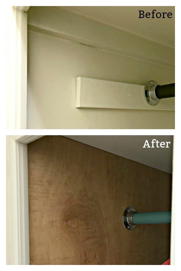 Before And After Attaching A Plywood Liner To Open Cabinets. Easy DIY Open  Cabinet Makeover