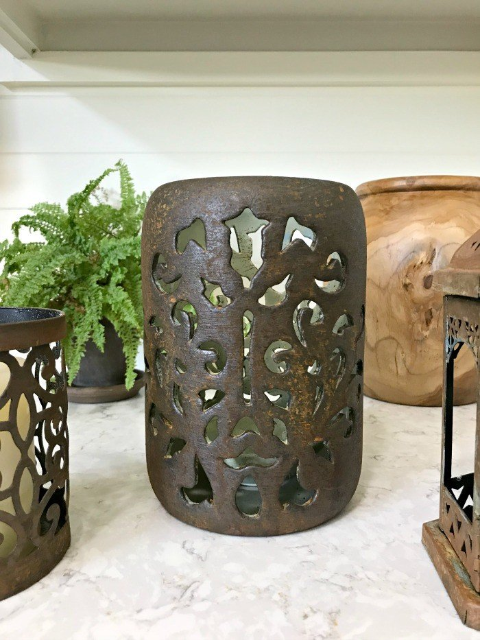 Update your old decor with this DIY Rust Paint Technique. I love how easy this is, just paint and spray! #PatinaPaint #Rust #DixieBellePaint #AbbottsAtHome
