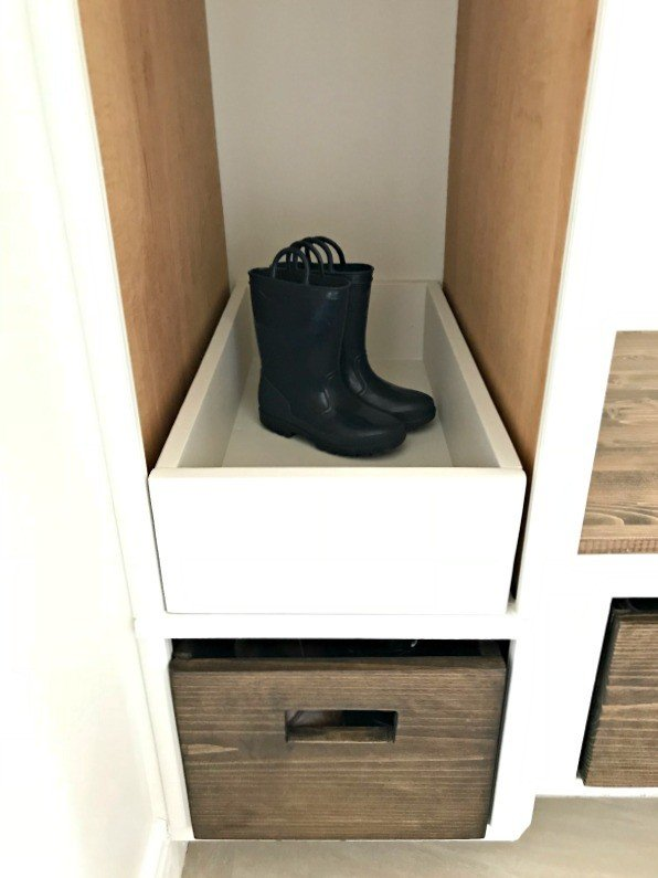 DIY Tall Cabinet Makeover into Coat and Shoe Storage