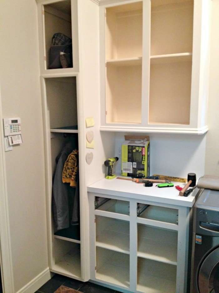 Youu0027ll Love This DIY Tall Cabinet Makeover Into Coat And Shoe Storage.  Convert