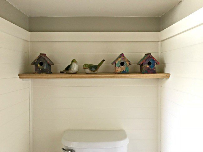 A Quick and Easy DIY Bathroom Shelf over your Toilet - Abbotts At Home