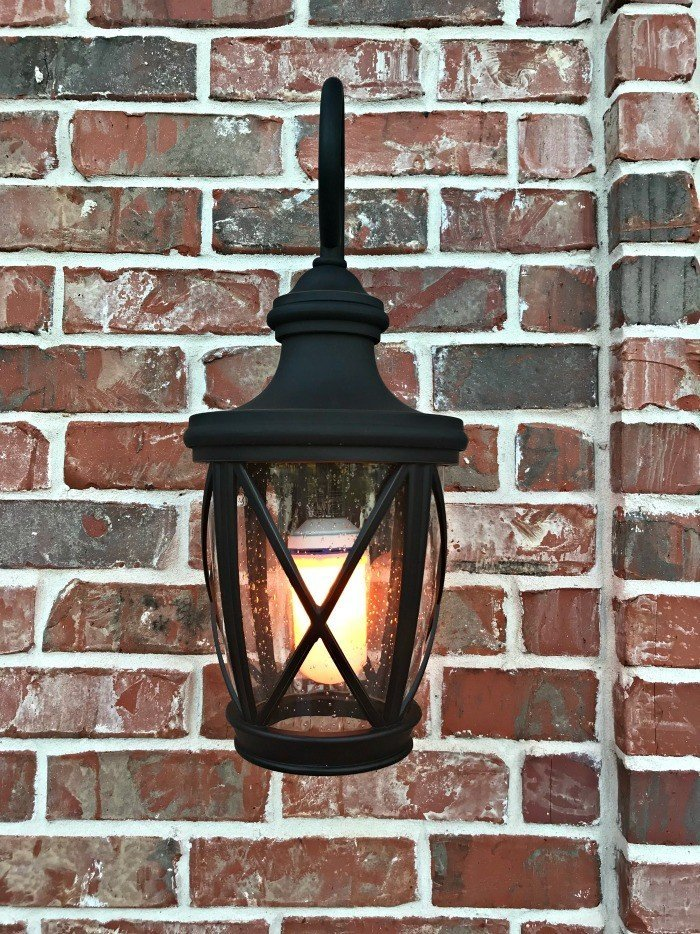 Easy LED Flame Effect Fire Bulb Front Porch Makeover