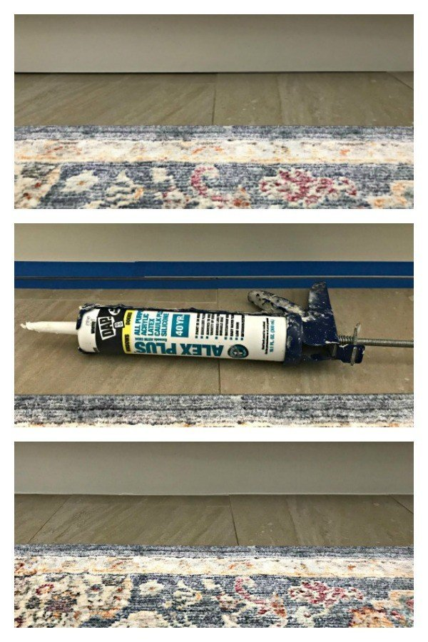 Fix that small gap under cabinets in your kitchen, bath, and laundry with this quick and easy DIY update. For less than $10 and in 30 minutes you can caulk that gap and block out all of the spills, dirt, and crumbs that get caught in the crack. #AbbottsAtHome #Caulk #Cabinets #HomeMaintenance #DIYIdeas