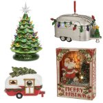 One of my favorite things about Christmas is all of those warm and fuzzy feelings of nostalgia from the music, food, and even the decor. Here are some of the best vintage Christmas Decoration ideas I've found this year. Includes Ceramic Christmas Trees, Vintage Camper Vans, and Retro Glass Ornaments. #AbbottsAtHome #Christmas #ChristmasDecor #ChristmasIdeas #Vintage #ChristmasOrnaments